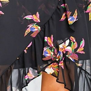 and Skirts - Beautiful Sheer Floral Hi-Low Skirt